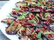 AUBERGINE POMEGRANATE SALAD.