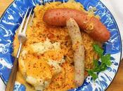 Wursteplatte with Potatoes Paprika Cream Gravy