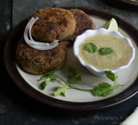 No Meat Shikhampuri Kebab