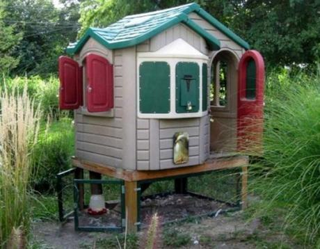 Chicken Coop Made From a Play House