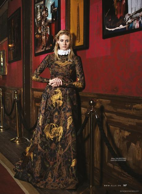 Michelle Buswell in Valentino @ Benjamin Kanarek