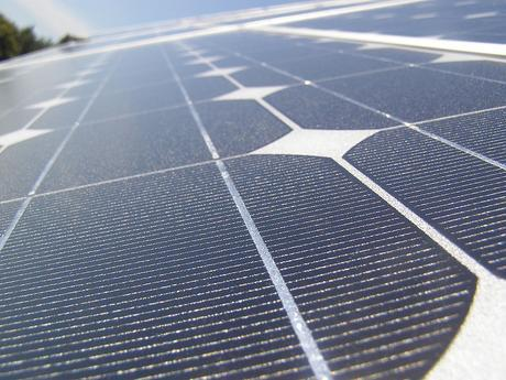 A close up of some solar panels
