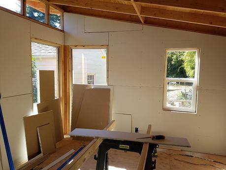 Studio Progress: Sheetrock & Paint - Paperblog