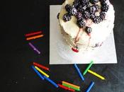 Anniversary Cake: Blackberries Cream Cheese