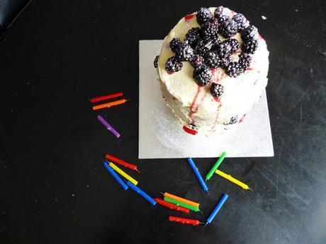 Anniversary Cake: Blackberries & Cream Cheese