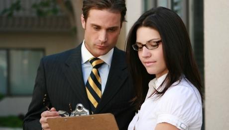 woman employee talking to the boss