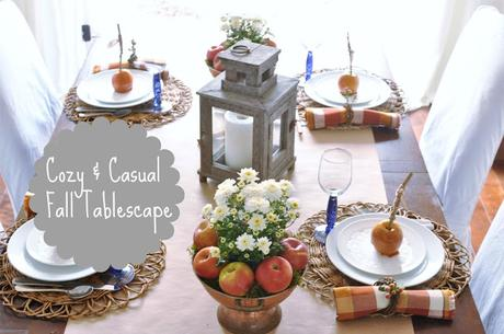 A Cozy & Casual Fall Tablescape; how to