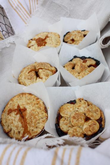 Individual Autumn Pies : Maple Brown Sugar Apple & Pear, Grape, Plum ...