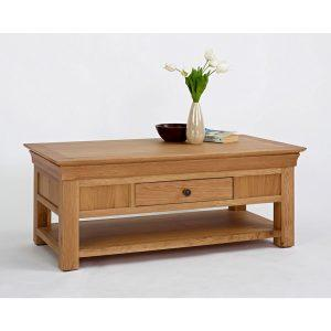Decorate your living room with oak tables Coffee