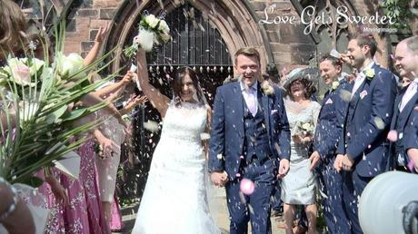 confetti photo and video outside st marys church west derby