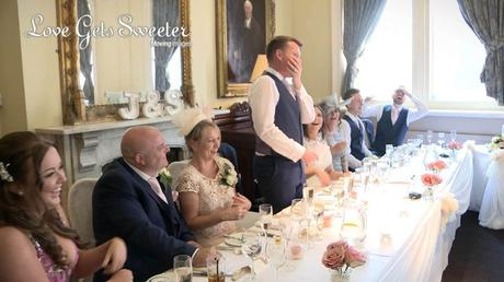 grooms speech filmed during wedding at liverpool racquet club