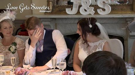 embarrassed groom during speeches at racquet club liverpool