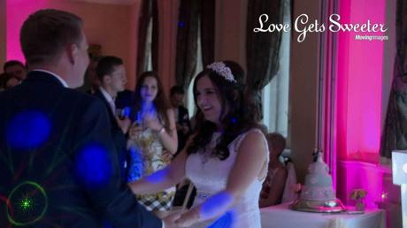 bride and groom first dance on video at liverpool racquet club