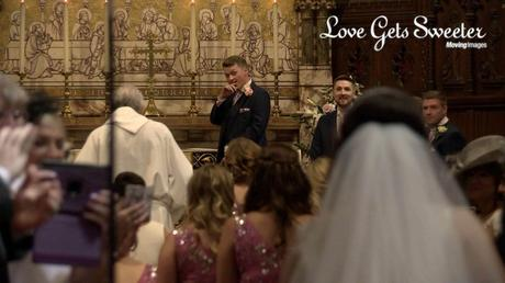 groom reaction to seeing bride first look west derby wedding video