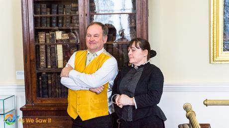 Costumed actors explain their riles in the Bishop's Palace.