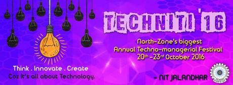 NIT Jalandhar – Technical Fest – techNITi 2016