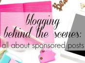 Blogging Behind Scenes: Sponsored Posts Work?