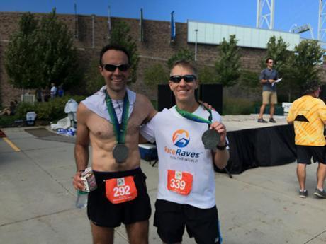 Dan Solera & Mike Sohaskey at Omaha Marathon finish