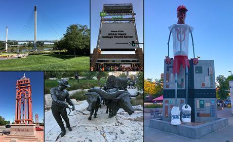 Omaha collage from Omaha Marathon weekend