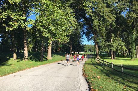 Miller Park section of Omaha Marathon