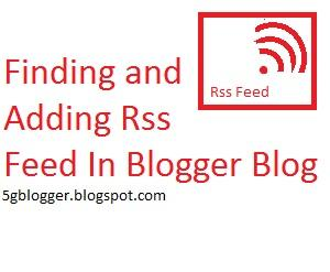 find my blogger blog rss feed