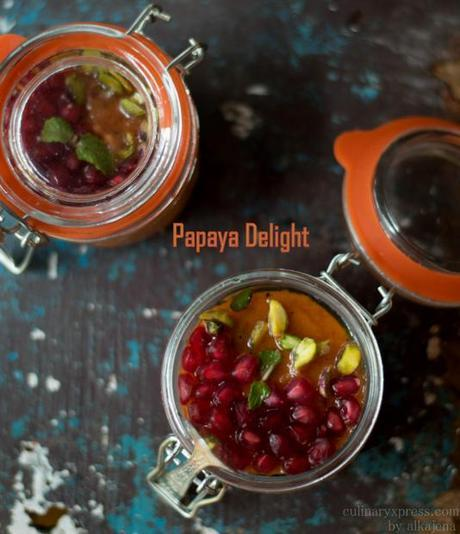 Papaya Delight - No cook exotic dessert