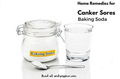 Baking soda - how to get rid of canker sores