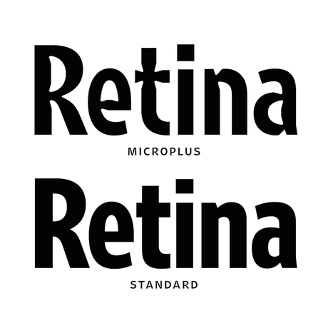 Retina: a retail release for one of the most legible fonts