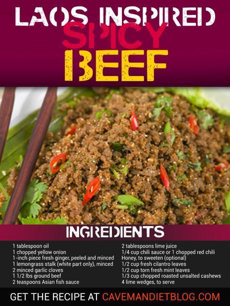 paleo dinner recipes spicy beef ingredient image