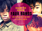 Those Scissors Down! Here's Create Faux Bangs Natural Hair