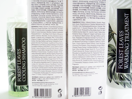 Jungle Botanics Forest Leaves Cooling Shampoo and Warming Treatment Review