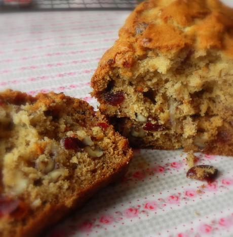 Banana, Cranberry and Walnut Loaf