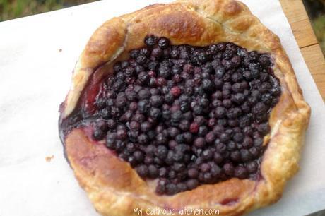 Blueberry Tart for Saint Issac Jogues