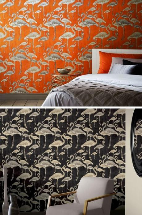 Animals in our interiors are all the rage this season for bringing quirkiness to your décor and a smile to your face and this wallpaper from A Shade Wilder fits the bill perfectly.