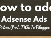AdSense Below Post Title Blogger.