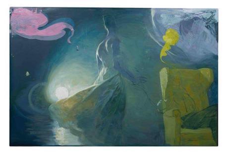 Berührungspunkt (c) 2016 Ruprecht von Kaufmann (oil on linoleum)