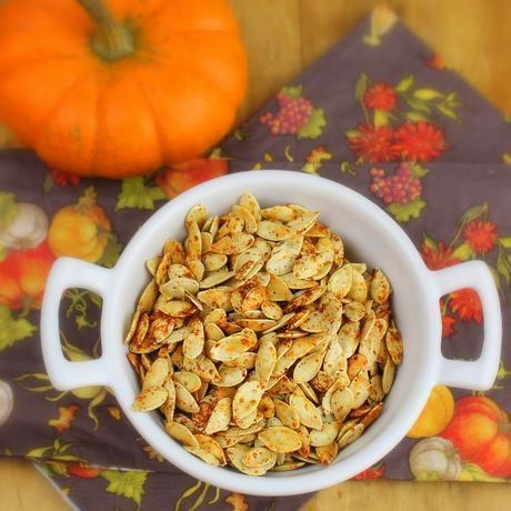 Roasted Masala Pumpkin Seeds