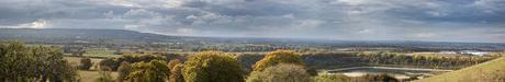 Panorama from Pitstone Hill (made from 6 photos stitched)