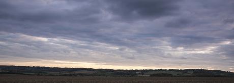 The sun sinking over Hertfordshire