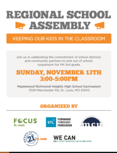 Regional School Assembly: Keeping Our Kids in the Classroom #CompassionateSunday #KeepKidsInClass