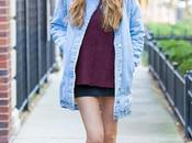 Tobi Shearling Denim Coat