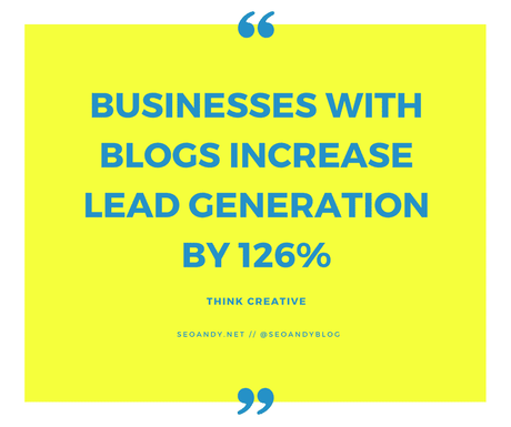 businesses who blog create more leads and sales