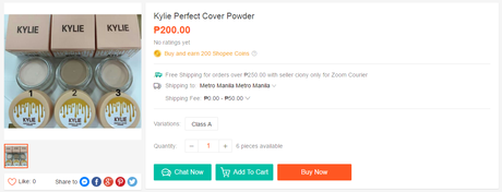 fake kylie cover powder