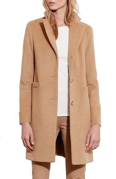 camel reefer coat