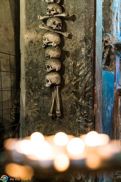 human bone art at Sedlec Ossuary