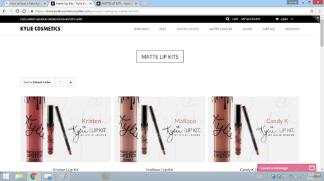 fake kylie website matte lip kits