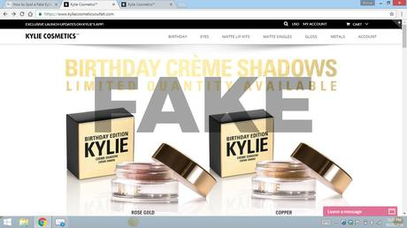 fake kylie website