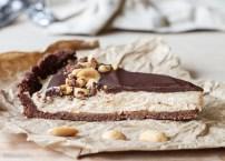 No Bake Chocolate Peanut Butter Tart (GF & Vegan)