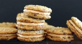 Peanut Butter Oatmeal Chocolate Chip Cookie Sandwiches