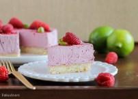 Vegan Raspberry Lime Cheesecake with Coconut Crust